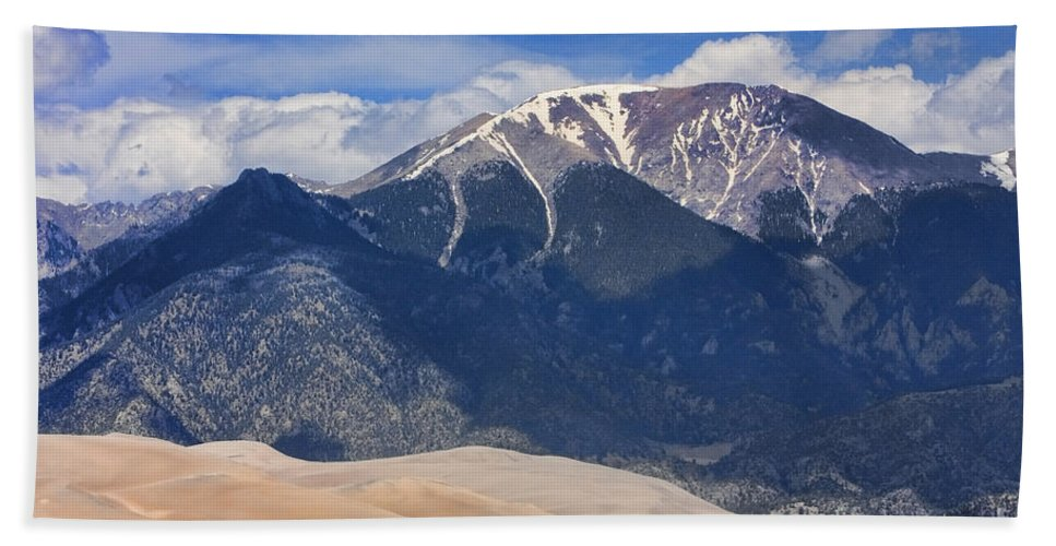 'great Sand Dunes National Park And Preserve' Hand Towel featuring the photograph Great Colorado Sand Dunes 125 by James BO Insogna