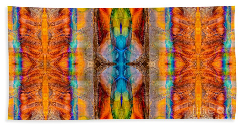16x9 Hand Towel featuring the digital art Great Spirit Abstract Pattern Artwork By Omaste Witkowski by Omaste Witkowski