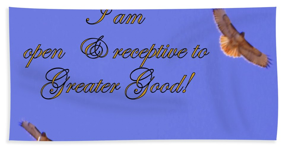 Acrylic Prints Hand Towel featuring the photograph Greater Good by Bobbee Rickard