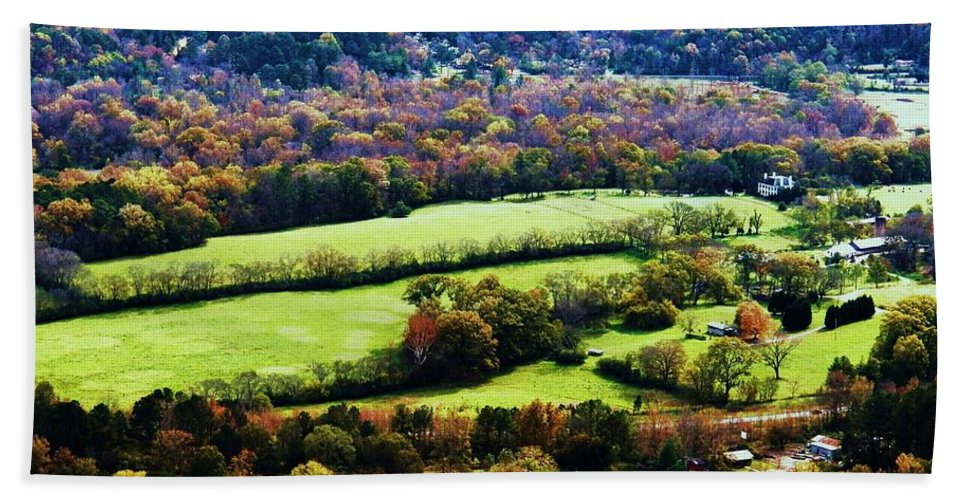 Acres Bath Sheet featuring the photograph Green Acres by Faith Williams