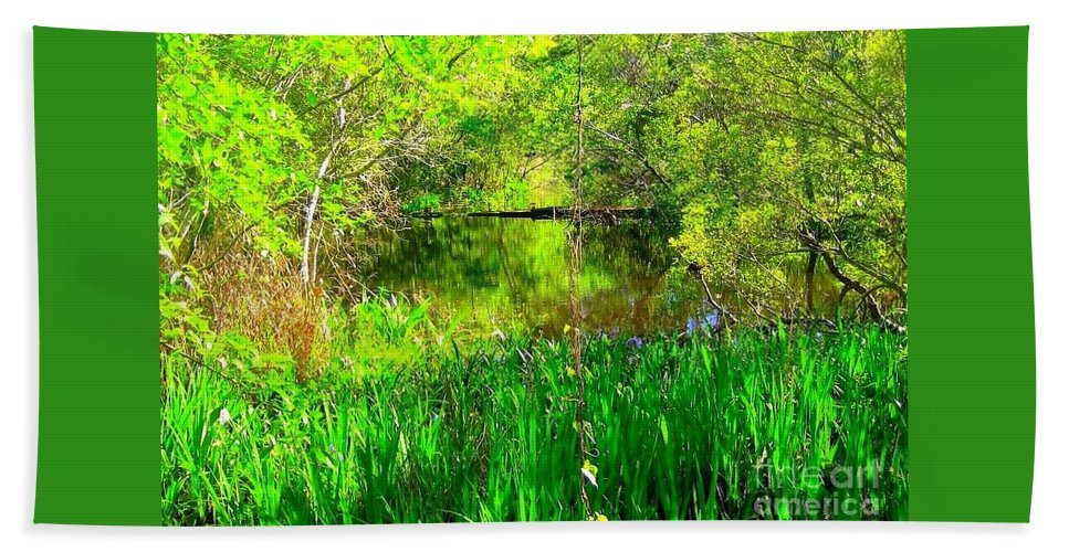 Mississippi Photography Bath Sheet featuring the photograph Green As Emerald's by Michael Hoard