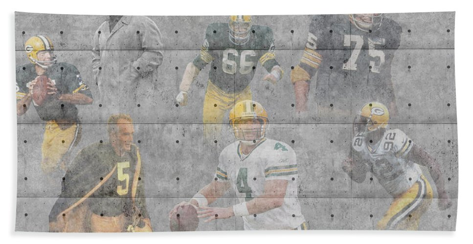 Packers Bath Sheet featuring the photograph Green Bay Packers Legends by Joe Hamilton