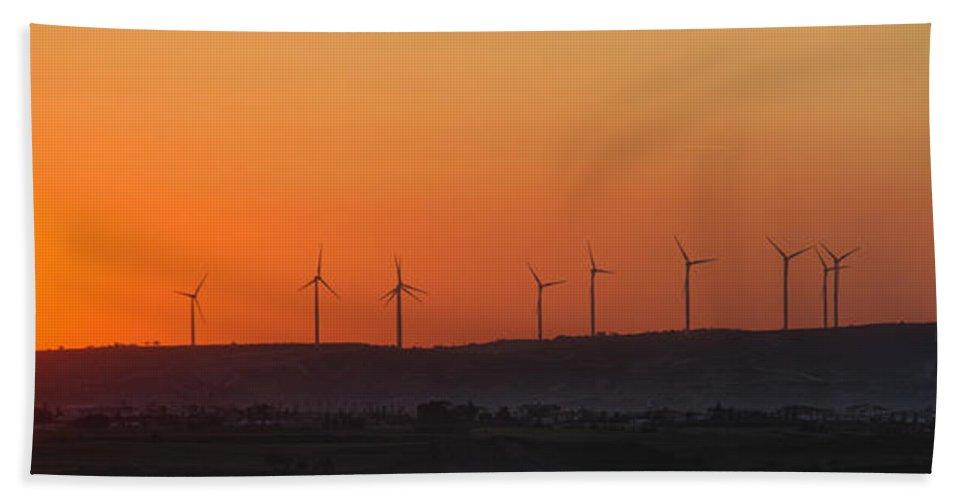 Air Bath Sheet featuring the photograph Green Energy by Stelios Kleanthous