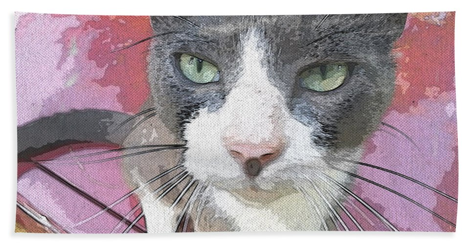 Animal Bath Sheet featuring the photograph Green Eyes by Donna Brown
