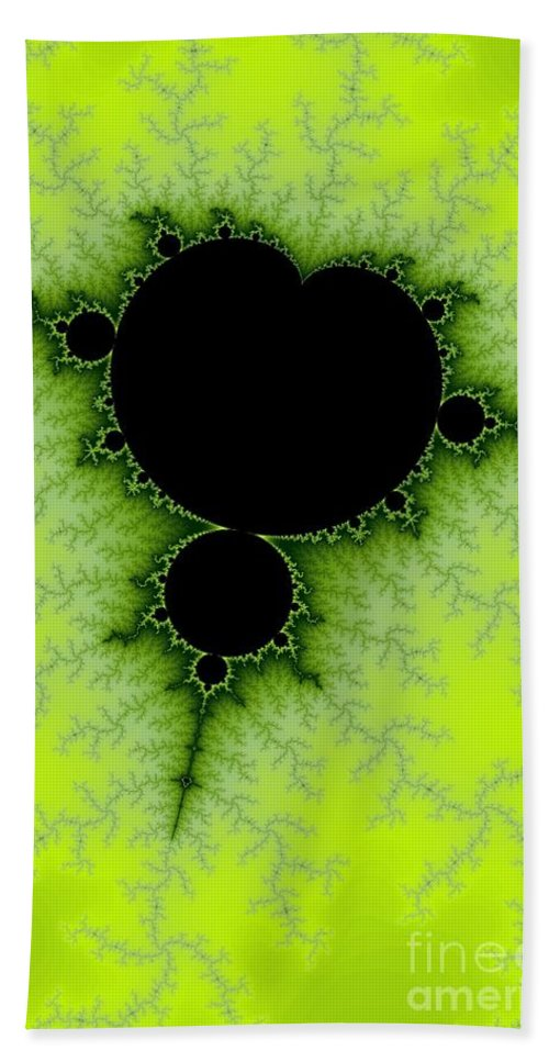 Fractal Hand Towel featuring the digital art Green Fractal by Henrik Lehnerer