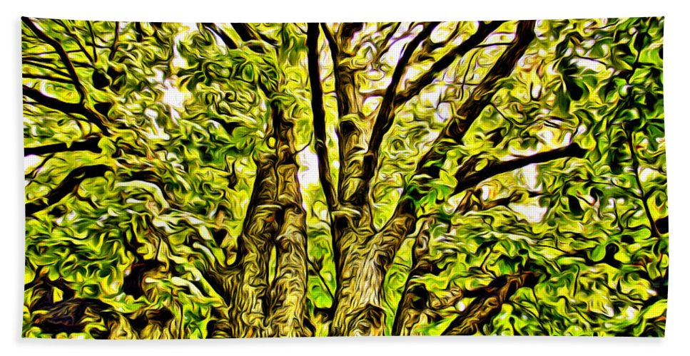 Trees Green Scenic Alicegipsonphotographs Bath Sheet featuring the photograph Green Leafy Trees by Alice Gipson
