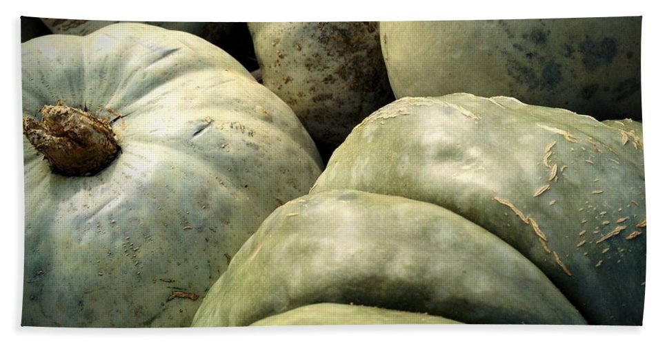 Pumpkin Hand Towel featuring the photograph Green Pumpkins by Photographic Arts And Design Studio