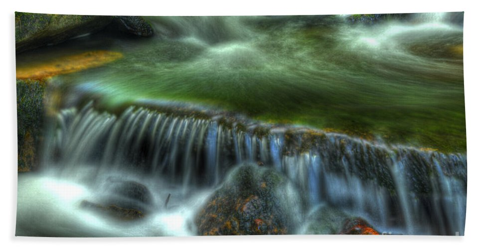 Ricketts Glen Hand Towel featuring the photograph Green Waters by Paul W Faust - Impressions of Light