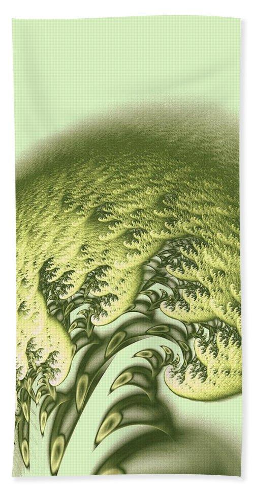 Malakhova Bath Sheet featuring the digital art Green Wave by Anastasiya Malakhova