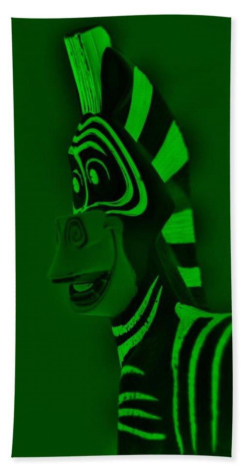 Zebra Bath Sheet featuring the photograph Green Zebra by Rob Hans