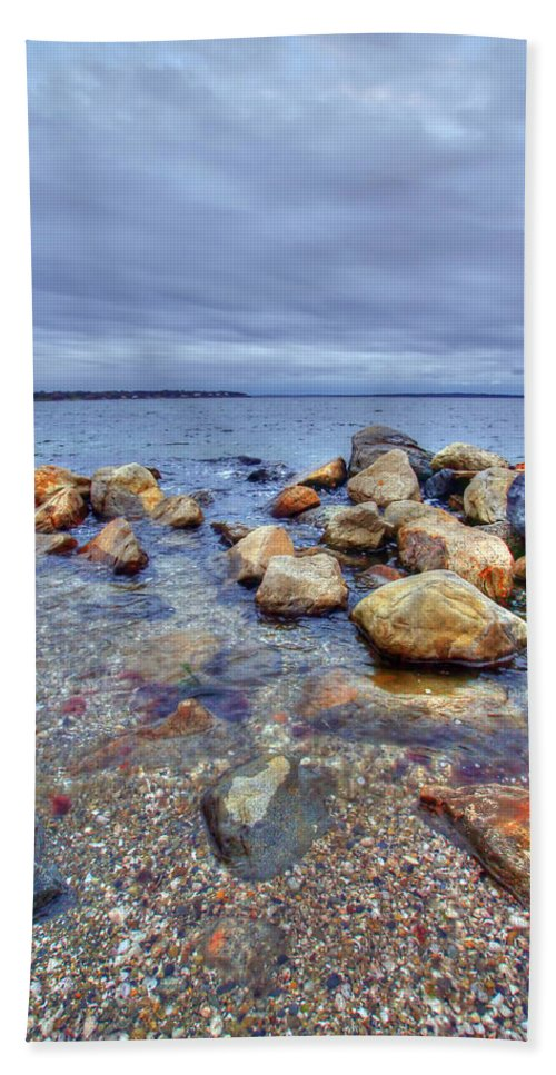 Atlantic Bath Sheet featuring the photograph Greenwich Bay by Alex Grichenko