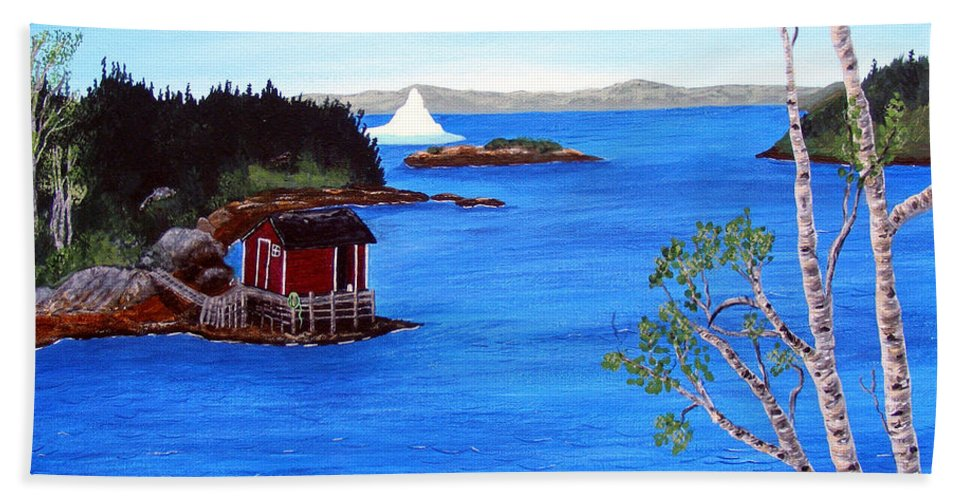 Grounded Iceberg Bath Sheet featuring the painting Grounded Iceberg by Barbara Griffin