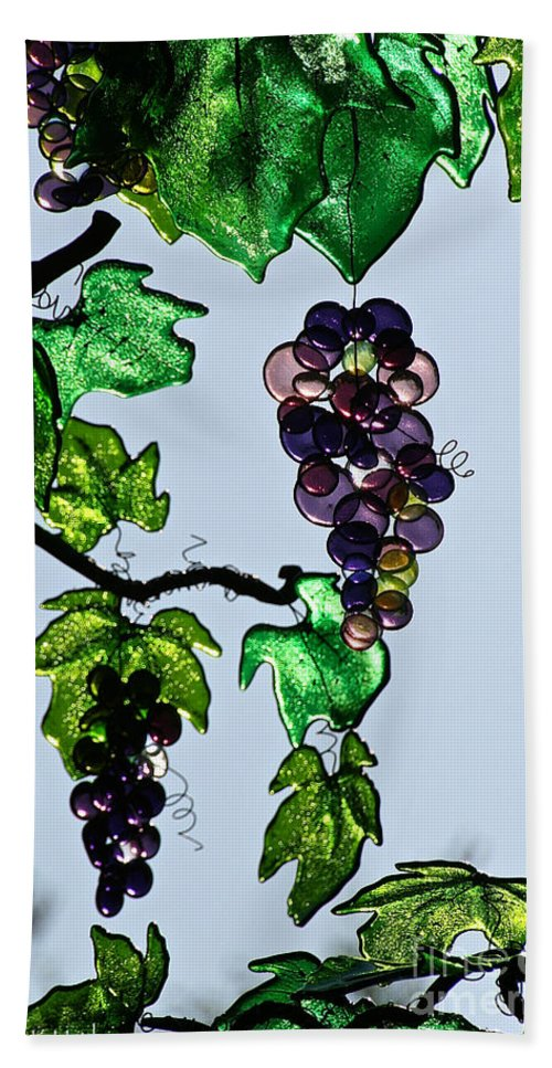 Outdoor Bath Sheet featuring the photograph Growing Glass Grapes by Susan Herber