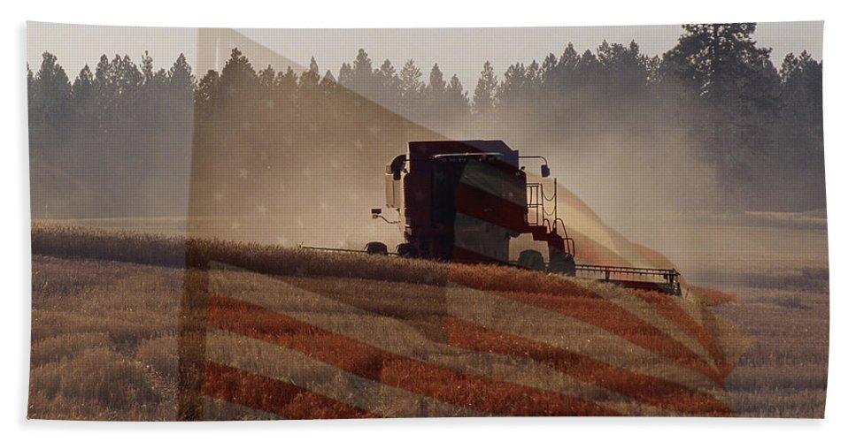 Wheat Bath Sheet featuring the photograph Grown In America by Sharon Elliott