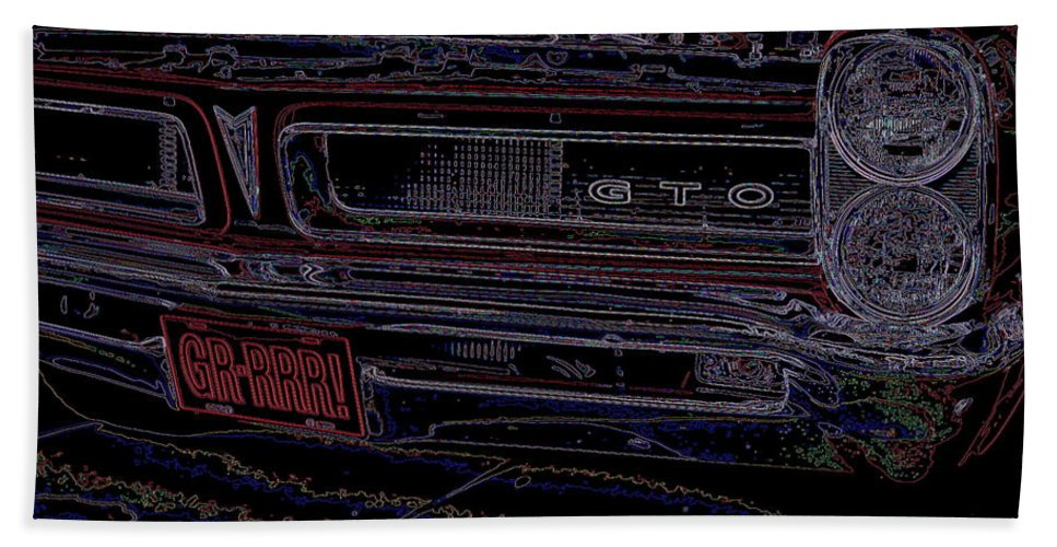 Gto Hand Towel featuring the photograph Gto Car Art by Alan Hutchins