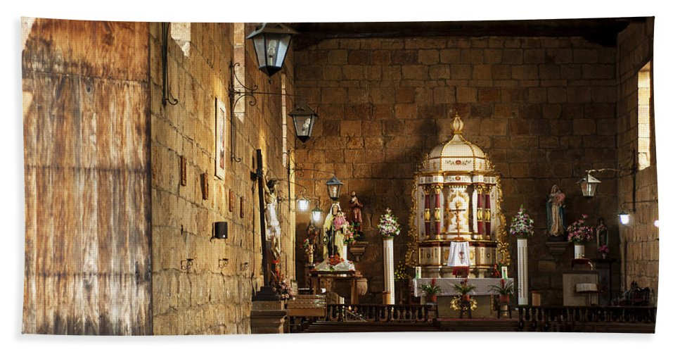 Religion Hand Towel featuring the photograph Guane Church by Jess Kraft