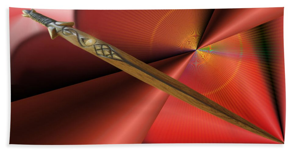 Autenrieb Bath Sheet featuring the digital art Guarded Heart by Vincent Autenrieb