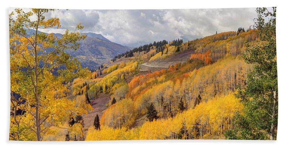 Aspen Hand Towel featuring the photograph Guardsman Pass Aspen - Big Cottonwood Canyon - Utah by Gary Whitton