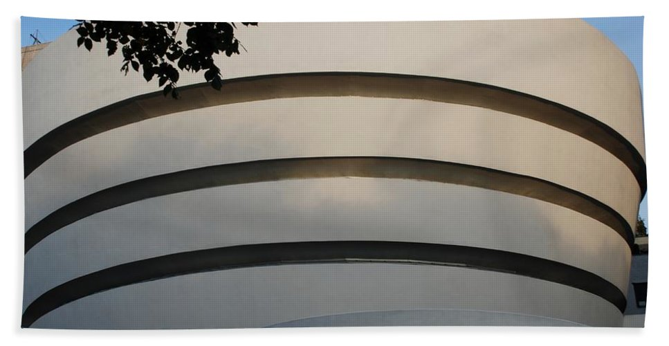 Scenic Hand Towel featuring the photograph Guggenheim In The Round by Rob Hans