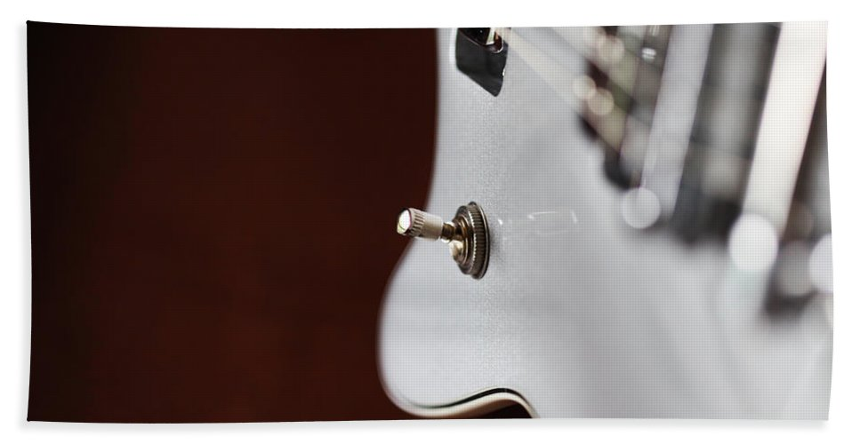 Guitar Hand Towel featuring the photograph Guitar Abstract by Karol Livote