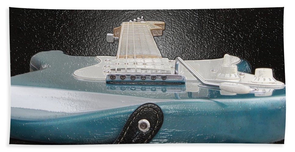 Guitar Bath Towel featuring the photograph Guitar Art by Shoal Hollingsworth