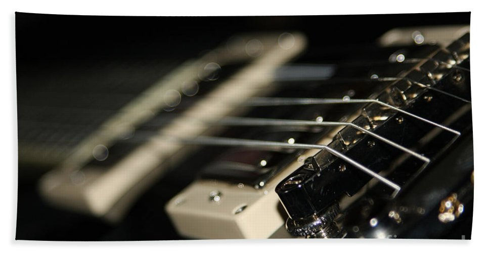 Guitar Hand Towel featuring the photograph Guitar Glance by Karol Livote