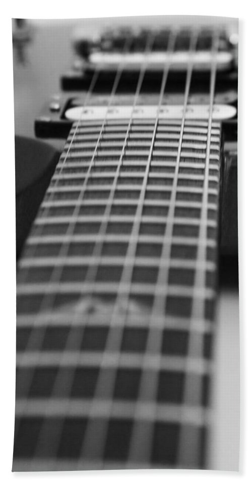 Guitar Hand Towel featuring the photograph Guitar View by Karol Livote