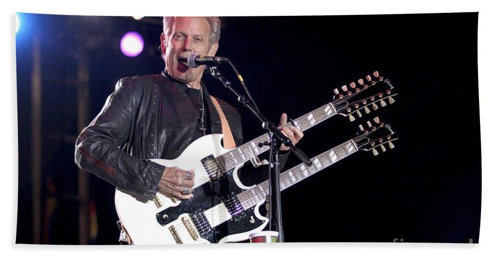 Concert Hand Towel featuring the photograph Guitarist Don Felder by Concert Photos