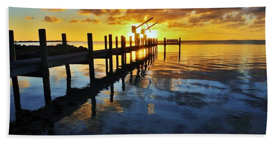 Florida Hand Towel featuring the photograph Gulf Coast Sunset by Benjamin Yeager