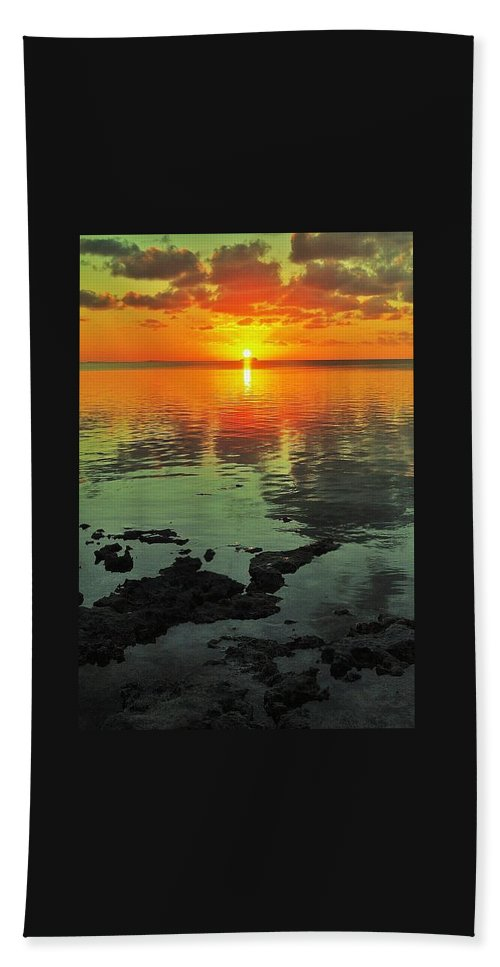 Florida Bath Sheet featuring the photograph Gulf Sunset by Benjamin Yeager