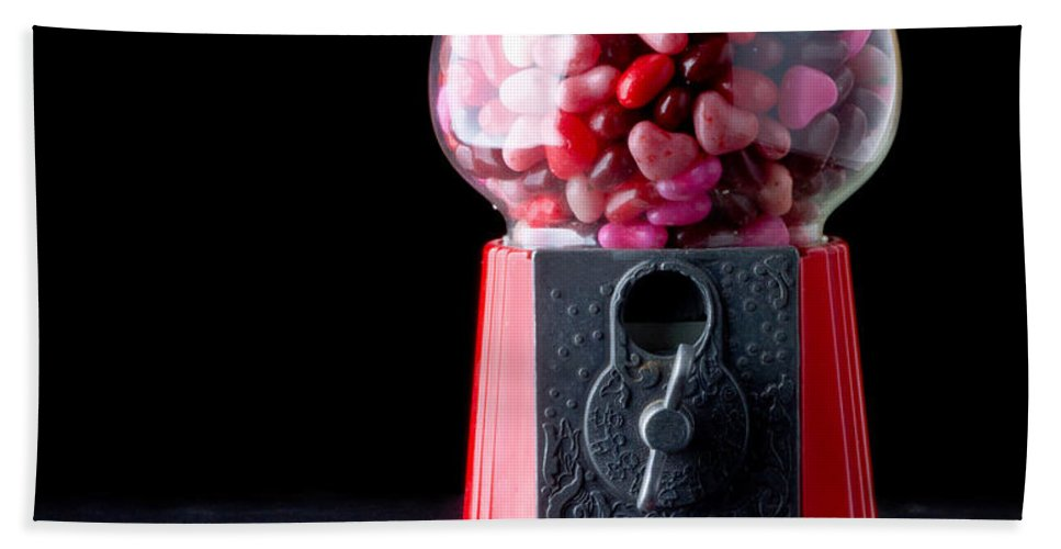 Love Hand Towel featuring the photograph Gumball Machine by Edward Fielding