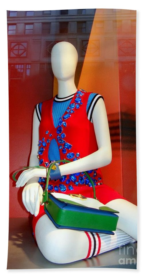 Mannequins Hand Towel featuring the photograph Gym Socks And Jewels by Ed Weidman