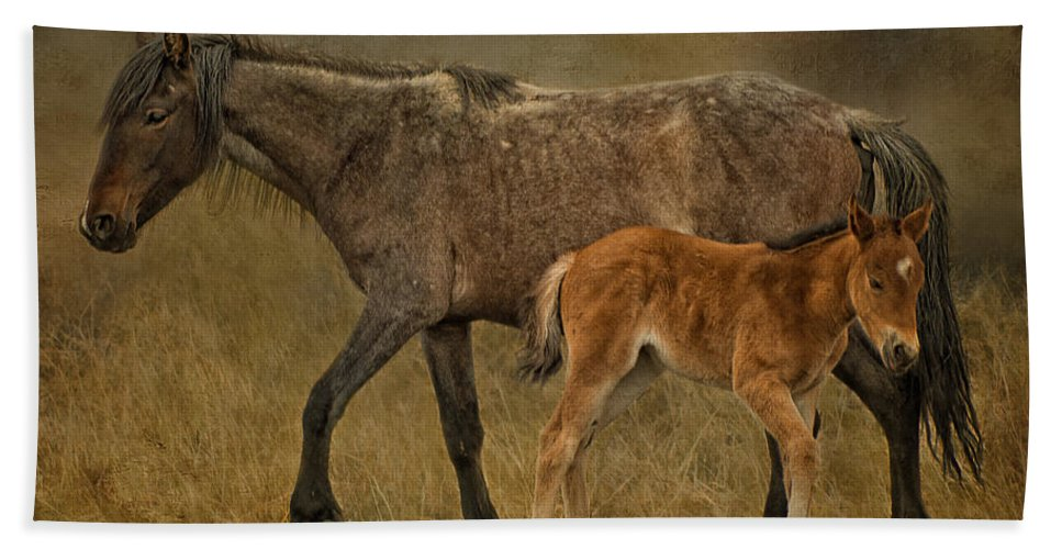 H Is For Horse Bath Sheet featuring the photograph H Is For Horse by Priscilla Burgers