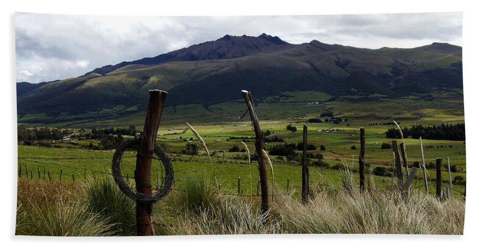Cotapaxi National Park Bath Sheet featuring the photograph Hacienda El Porvenir Ranch View by Kurt Van Wagner