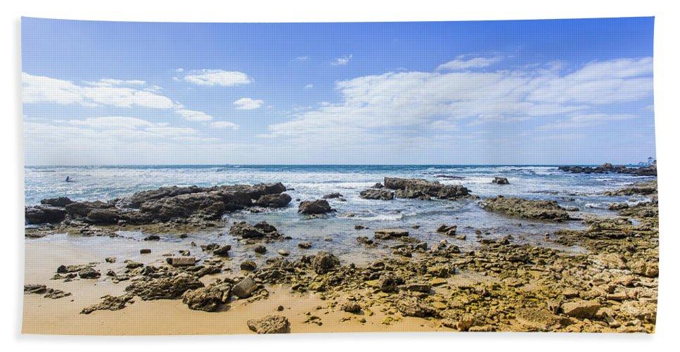 Beach Bath Sheet featuring the photograph Hadera Mediterranean Beach by Sv