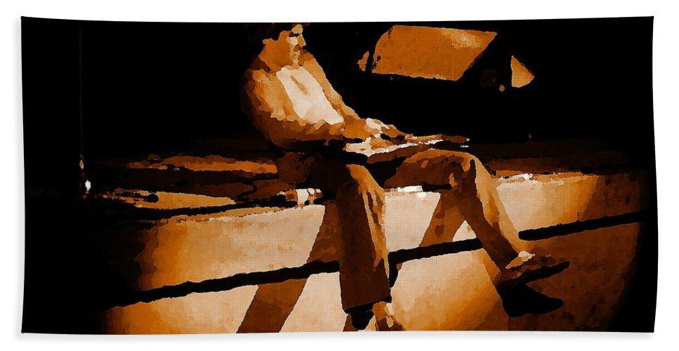 Sammy Hagar Bath Sheet featuring the photograph Hagar Rocking In Spokane On 2-2-77 by Ben Upham