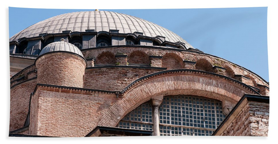 Istanbul Bath Sheet featuring the photograph Hagia Sophia Curves 01 by Rick Piper Photography