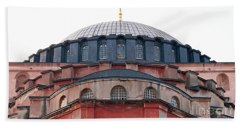 Istanbul Bath Sheet featuring the photograph Hagia Sophia Curves 02 by Rick Piper Photography