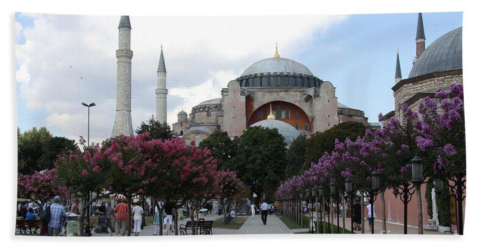 Hagia Sophia Hand Towel featuring the photograph Hagia Sophia I - Istanbul - Turkey by Christiane Schulze Art And Photography