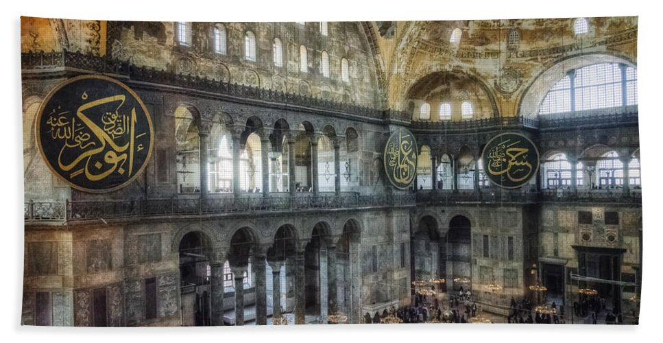 Architecture Hand Towel featuring the photograph Hagia Sophia Interior by Joan Carroll