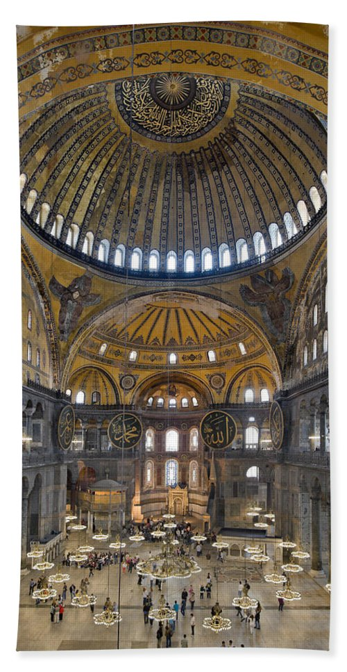 Turkey Hand Towel featuring the photograph Hagia Sophia Museum In Istanbul Turkey by Ayhan Altun