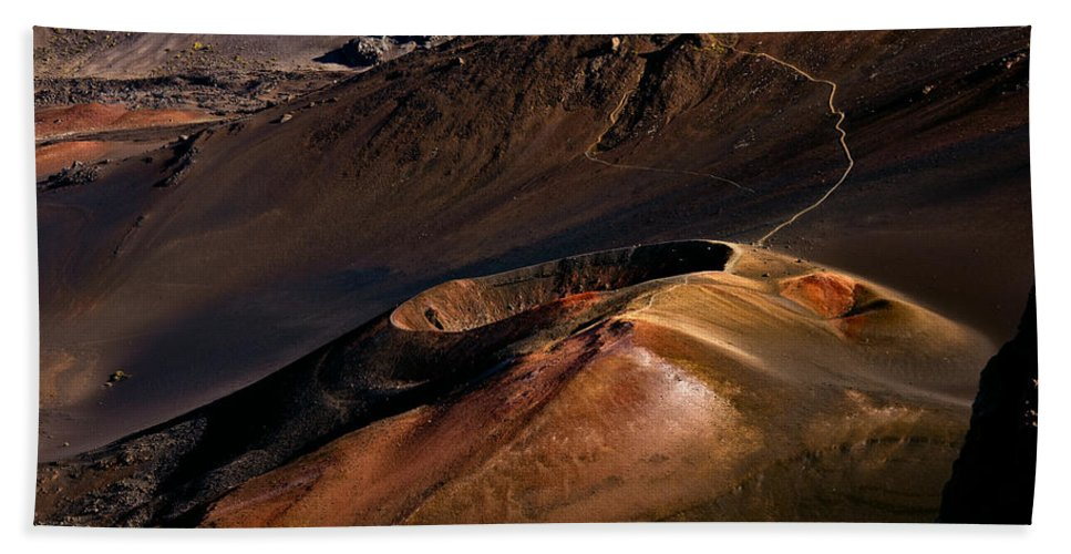 Maui Bath Sheet featuring the photograph Haleakala Cinder Cone by Nature Photographer