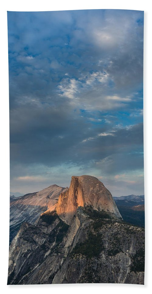 Yosemite National Park Bath Sheet featuring the photograph Half Dome Evening by Greg Nyquist