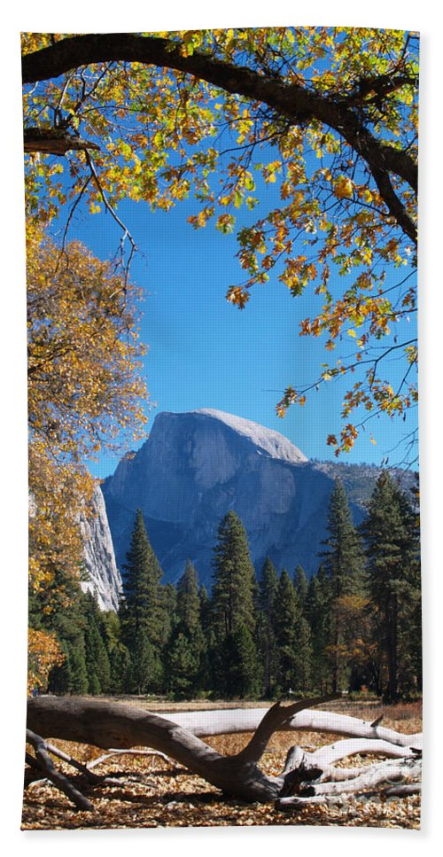 Landscape Hand Towel featuring the photograph Half Dome In Yosemite by Alex Cassels