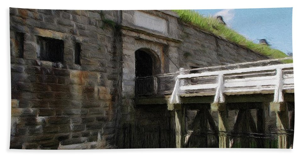 Canadian Hand Towel featuring the painting Halifax Citadel by Jeffrey Kolker