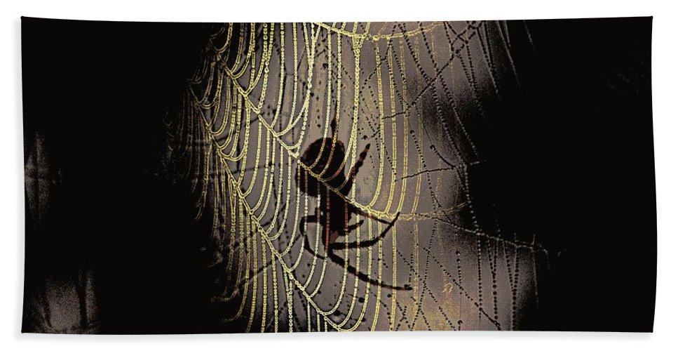 Halloween - Spider Bath Sheet featuring the photograph Halloween - Spider by Travis Truelove
