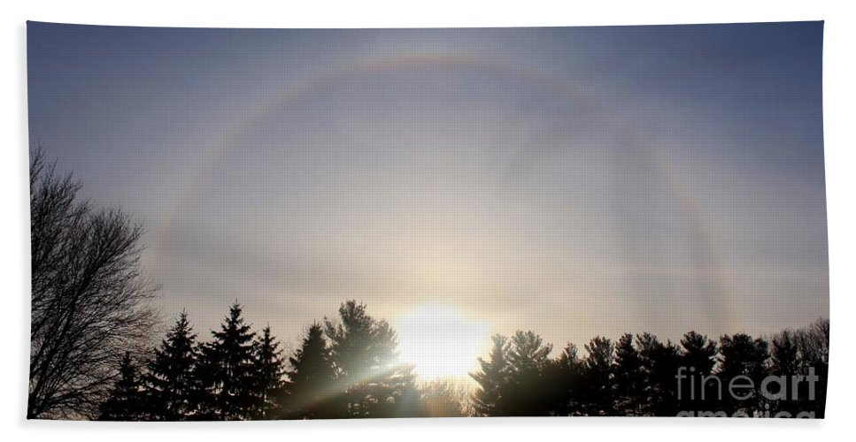 Halo Bath Sheet featuring the photograph Halo by Kenny Glotfelty