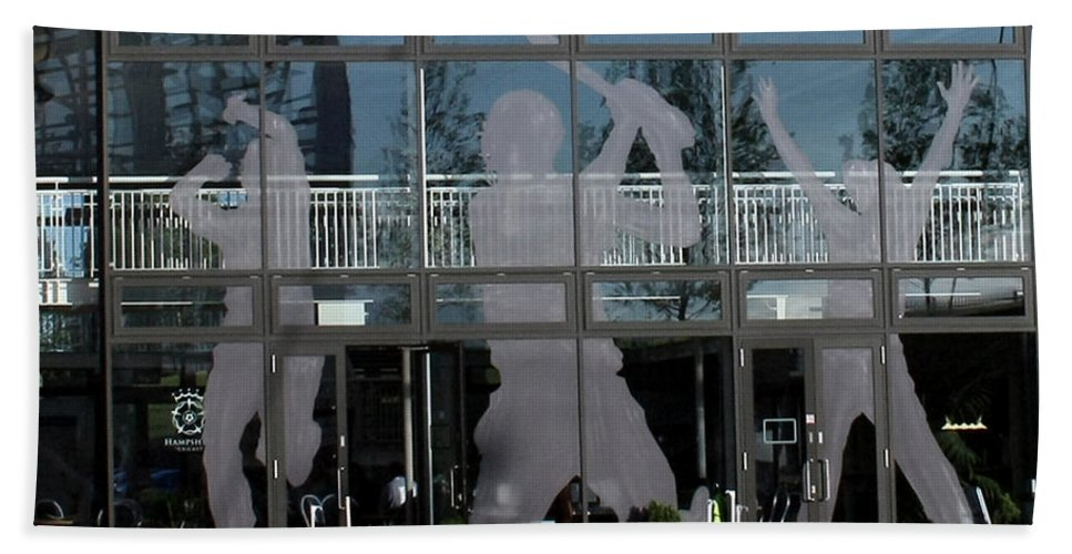 Cricket Bath Towel featuring the photograph Hampshire County Cricket Glass Pavilion by Terri Waters