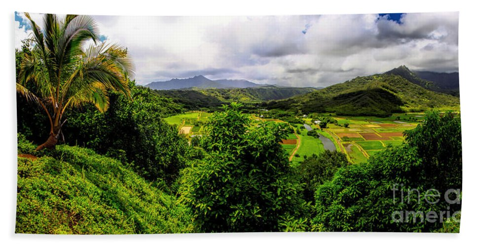 Hawaii Hand Towel featuring the photograph Hanalei Valley by Richard Lynch