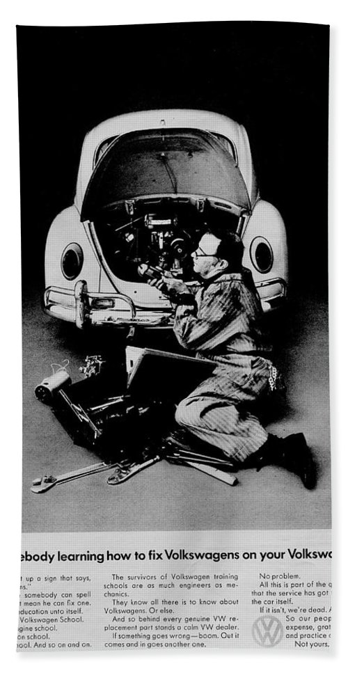Volkswagen Hand Towel featuring the photograph Hands Off by Benjamin Yeager